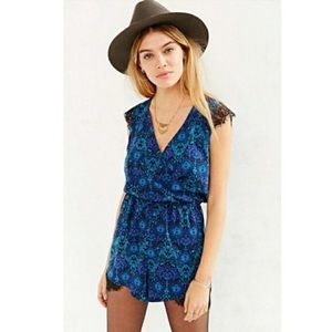 Urban Outfitters Kimchi Blue Lace Inset Romper